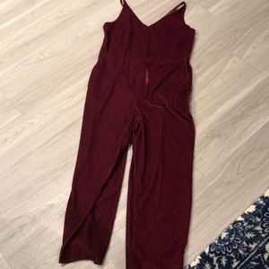 New with tags velvet jumpsuit